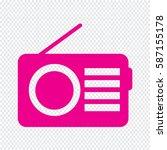radio icon   Shutterstock .eps vector #587155178