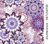 abstract seamless pattern... | Shutterstock .eps vector #587156930