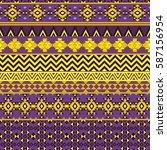 ethnic seamless pattern with... | Shutterstock .eps vector #587156954