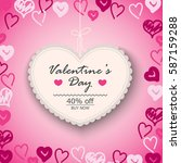 valentines day sale background... | Shutterstock .eps vector #587159288