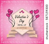 valentines day sale background... | Shutterstock .eps vector #587159300