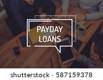 payday loans concept | Shutterstock . vector #587159378