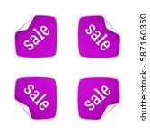 product stickers set with sale... | Shutterstock .eps vector #587160350