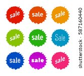 product stickers set with sale... | Shutterstock .eps vector #587160440