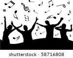 party illustration with some... | Shutterstock .eps vector #58716808