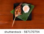 bacolod chicken inasal or bbq... | Shutterstock . vector #587170754