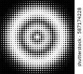 halftone pattern background... | Shutterstock .eps vector #587174228