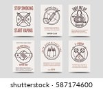 vape shop cards design. vector... | Shutterstock .eps vector #587174600