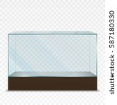 empty transparent horizontal... | Shutterstock .eps vector #587180330