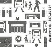 metro underground symbols... | Shutterstock .eps vector #587181839