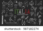 the set of different italian... | Shutterstock .eps vector #587182274