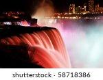 Niagara Falls At Night  View...