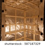 sauna construction | Shutterstock . vector #587187329
