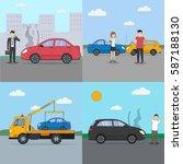 car crash set. different... | Shutterstock . vector #587188130
