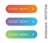 start now web button set | Shutterstock .eps vector #587197166