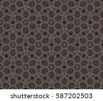 ornamental seamless pattern.... | Shutterstock . vector #587202503