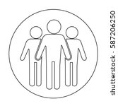 group of people icon | Shutterstock .eps vector #587206250