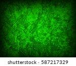 dark green abstract textured... | Shutterstock . vector #587217329