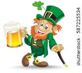 Leprechaun With Cup If Beer