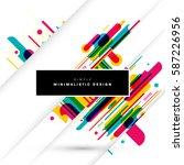 memphis geometric background... | Shutterstock .eps vector #587226956