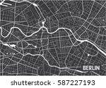 minimalistic berlin city map... | Shutterstock .eps vector #587227193