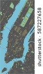 new york vector map with dark... | Shutterstock .eps vector #587227658