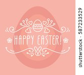happy easter. vector... | Shutterstock .eps vector #587233529