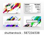 memphis geometric background... | Shutterstock .eps vector #587236538
