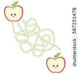 cute cartoon vector... | Shutterstock .eps vector #587251478