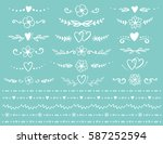 vintage flourish dividers and... | Shutterstock . vector #587252594