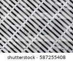 abstract geometric triangle ... | Shutterstock . vector #587255408