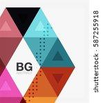 triangle modern mosaic... | Shutterstock .eps vector #587255918