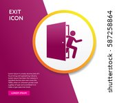 exit emergency icon. door... | Shutterstock .eps vector #587258864