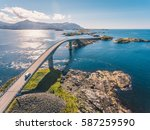 aerial drone shot of the... | Shutterstock . vector #587259590