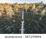 aerial drone shot of the young... | Shutterstock . vector #587259896