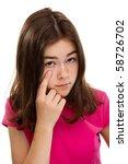 portrait of young beautiful... | Shutterstock . vector #58726702