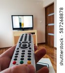 tv remot control | Shutterstock . vector #587268878