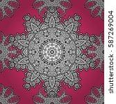 paisleys elegant floral vector... | Shutterstock .eps vector #587269004