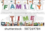 "hands holding ""family time"" for ... 