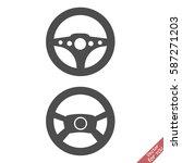 steering wheel icon | Shutterstock .eps vector #587271203