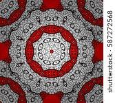 vector vintage baroque floral... | Shutterstock .eps vector #587272568