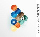 vector circle bubbles modern... | Shutterstock .eps vector #587272799