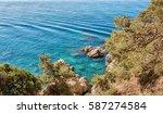 seacoast in lloret de mar ... | Shutterstock . vector #587274584
