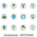 map icons. | Shutterstock .eps vector #587279960