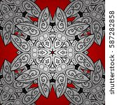 damask seamless repeating... | Shutterstock .eps vector #587282858