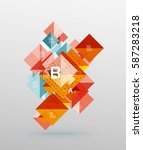 square abstract background.... | Shutterstock .eps vector #587283218