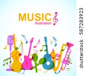 decorative musical abstract...   Shutterstock .eps vector #587283923