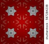 seamless oriental ornament in... | Shutterstock .eps vector #587284238
