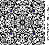floral pattern. wallpaper... | Shutterstock .eps vector #587285624