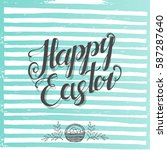 greeting poster for easter with ... | Shutterstock .eps vector #587287640
